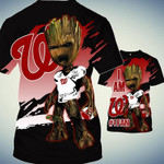 Topsportee Washington Nationals Limited Edition Over Print Full 3D Zip Hoodie S - 5XL