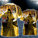 Topsportee Pittsburgh Pirates Limited Edition Over Print Full 3D T-shirt Zip Hoodie S - 5XL