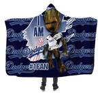 Stocktee Los Angeles Dodgers Limited Edition Over Print Full 3D Hoooded Blanket