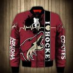 Topsportee Arizona Coyotes Winter Bomber Jacket 3D Full Print
