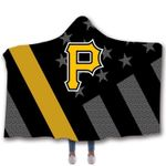 Topsportee Pittsburgh Pirates Limited Edition Over Print Full 3D Hooded Blanket