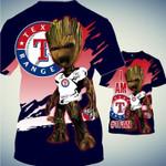 Topsportee Texas Rangers Limited Edition Over Print Full 3D T-shirt Zip Hoodie S - 5XL