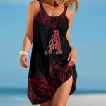 Topsportee Arizona Diamondbacks Tree Pattern Limited Edition Summer Beach Dress NLA002433