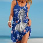Topsportee Chicago Cubs Medusa Limited Edition Summer Beach Dress NLA001837