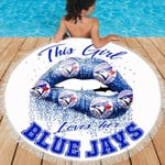 Topsportee Toronto Blue Jays Limited Edition Over Print Full 3D ROUND BEACH