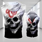 Topsportee Washington Nationals Limited Edition Over Print Full 3D Sleeveless Zipper Hoodie