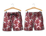 Topsportee Boston Red Sox Leaf and Logo Limited Edition Hawaii Shirt and Shorts Summer Collection size S-5XL NLA003036