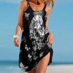 Topsportee Chicago White Sox Butterflies And Skull Limited Edition Summer Beach Dress NLA002038