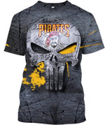 Topsportee Pittsburgh Pirates Limited Edition Over Print Full 3D T-shirt Zip Hoodie Fleece S - 5XL