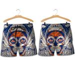 Topsportee New York Mets Skull Hawaiian Shirt and Shorts Summer Collection Size S-5XL NLA004950