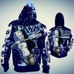 Topsportee Tampa Bay Rays Limited Edition Over Print Full 3D T-shirt Zip Hoodie S - 5XL