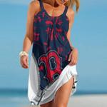 Topsportee Boston Red Sox Medusa Limited Edition Summer Beach Dress NLA002336