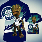 Topsportee Seattle Mariners Limited Edition Over Print Full 3D T-shirt Zip Hoodie S - 5XL TOP000319
