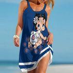 Topsportee Chicago Cubs Betty Boop Limited Edition Summer Beach Dress NLA001937