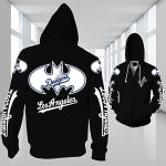 Stocktee Los Angeles Dodgers Limited Edition Over Print Full 3D Zipper Hoodie