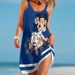 Topsportee New York Mets Betty Boop Limited Edition Summer Beach Dress NLA001950