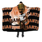 Topsportee San Francisco Giants Limited Edition Over Print Full 3D Hooded Blanket