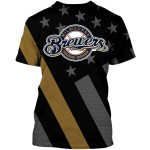 Stocktee Milwaukee Brewers Limited Edition Over Print Full 3D T-shirt Hoodie S - 5XL