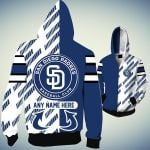 Topsportee San Diego Padres Limited Edition Over Print Full 3D Zip Hoodie S - 5XL