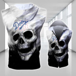 Stocktee Los Angeles Dodgers Limited Edition Over Print Full 3D Sleeveless Zipper Hoodie
