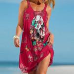 Topsportee Arizona Diamondbacks Butterflies And Skull Limited Edition Summer Beach Dress NLA002033