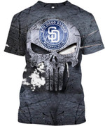 Topsportee San Diego Padres Limited Edition Over Print Full 3D T-shirt Zip Hoodie S - 5XL