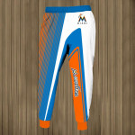 Stocktee Miami Marlins Limited Edition Over Print Full 3D Sweatpants Zip Hoodie S - 5XL
