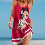 Topsportee Arizona Diamondbacks Betty Boop Limited Edition Summer Beach Dress NLA001933
