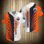 Topsportee Men�s Edmonton Oilers Shirts Button Up Short Sleeve