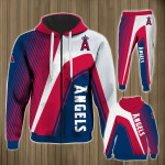 Stocktee Los Angeles Angels Limited Edition Over Print Full 3D Sweatpants Zip Hoodie S - 5XL
