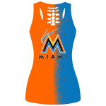 Stocktee Miami Marlins Limited Edition Over Print Full 3D Tank Top