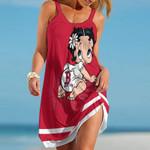 Topsportee Boston Red Sox Betty Boop Limited Edition Summer Beach Dress NLA001936