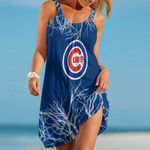 Topsportee Chicago Cubs Tree Pattern Limited Edition Summer Beach Dress NLA002437