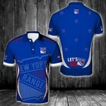 NHL New York Rangers Polo Unisex Size 3D All Over Printed - PLUSA68