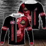 NHL Montreal Canadiens Skull Hoodie/Zip Hoodie/Tshirt Design 3D Full Printed Sizes S - 5XL MK93001
