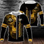 NHL Pittsburgh Penguins Skull Hoodie/Zip Hoodie/Tshirt Design 3D Full Printed Sizes S - 5XL MK93009