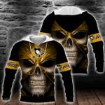 NHL Pittsburgh Penguins Skull Hoodie/Zip Hoodie/Tshirt Design 3D Full Printed Sizes S - 5XL MK93010
