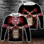 NHL Montreal Canadiens Skull Hoodie/Zip Hoodie/Tshirt Design 3D Full Printed Sizes S - 5XL MK93012