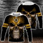 NHL Boston Bruins Skull Hoodie/Zip Hoodie/Tshirt Design 3D Full Printed Sizes S - 5XL MK93014