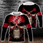 NHL New Jersey Devils Skull Hoodie/Zip Hoodie/Tshirt Design 3D Full Printed Sizes S - 5XL MK93016