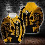 NHL Pittsburgh Penguins SKULL Hoodie/Zip Hoodie Design 3D Full Printed Sizes S - 5XL NH280