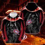NHL Montreal Canadiens Skull Hoodie/Zip Hoodie/Tshirt Design 3D Full Printed Sizes S - 5XL QC656