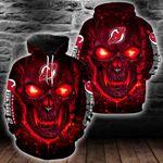 NHL New Jersey Devils Skull Hoodie/Zip Hoodie/Tshirt Design 3D Full Printed Sizes S - 5XL SK9401