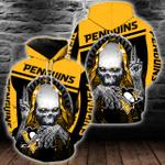 NHL Pittsburgh Penguins Skull Hoodie/Zip Hoodie/Tshirt Design 3D Full Printed Sizes S - 5XL SK9409