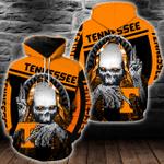 NCAA Tennessee Volunteers Skull Hoodie/Zip Hoodie/Tshirt Design 3D Full Printed Sizes S - 5XL SK9502