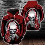 NCAA Oklahoma Sooners Skull Hoodie/Zip Hoodie/Tshirt Design 3D Full Printed Sizes S - 5XL SK9510