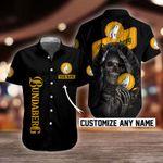 Bundaberg Brewed Drinks Skull Button Shirt/Baseball Shirt Design 3D Full Printed Custom Name Sizes S - 5XL B91025