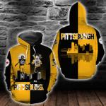 Pittsburgh Penguins and Pittsburgh Steelers Hoodie/Zip Hoodie/Tshirt Design 3D Full Printed Sizes S - 5XL NF9192