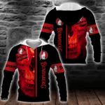 Bundaberg Brewed Drinks Red Skull Hoodie/Zip Hoodie/Tshirt Design 3D Full Printed Sizes S - 5XL B91102