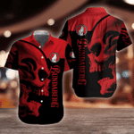 Bundaberg Brewed Drinks Red Skull Button Shirt Design 3D Full Printed Sizes S - 5XL B91119
